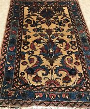 An Awesome Gold Background Color Hamedan Rug