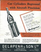 Tool Brochure - Delapena - Cylinder Grinders for Auto Car Engine c1950's (TL43)