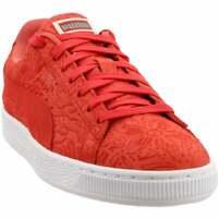 Puma Suede Caribbean Floral Sneakers Casual    - Orange - Mens