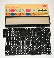 Vintage Whitman Double-Six Dominoes-Complete(28 Pieces) in Color-Dot box.