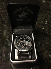NWT Beverly Hills Polo Club Men's Watch, Gunmetal, Chronograph