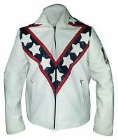 Men's Cafe Racer Vintage Evel Knievel Stunt Performer Biker Real Leather Jacket.