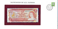 Banknotes of All Nations Canada 2 dollars 1974 AUNC P 86a prefix UM*