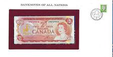 Banknotes of All Nations Canada 2 dollars 1974 AUNC P 86a prefix UM*