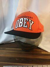 OBEY PROPAGANDA HAT CAP ORANGE FLAT