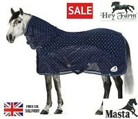 SALE 50% OFF Masta Fleece and Mesh Horse Cooler Rug Breathable & Wicking 7ft0