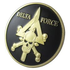 US. Military DELTA FORCE 24KT GP Challenge Coin 1040#