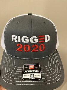Rigged 2020 Embroidered Hat USA Hat w/ Gray Bill Trump
