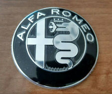 BLACK & SILVER Alfa Romeo emblem badge logo insignia 74mm for 147,155, 159, 166