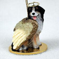 Bernese Mountain Dog Ornament Angel Figurine Hand Painted