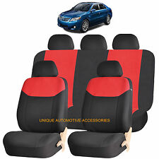 RED ELEGANT STYLE AIRBAG COMPATIBLE AUTO SEAT COVER SET for TOYOTA COROLLA CAMRY