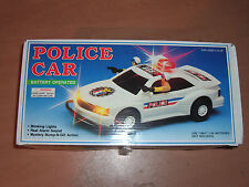 1991 VINTAGE POLICE CAR BATTERY OPERATED CREATOY TOY MIB
