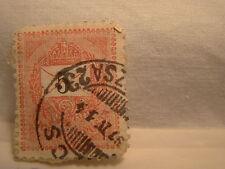 Hungary Stamp 1888 98 Scott 25 A3 Red 5 Krajczar