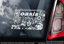 Oasis - Car Window Sticker - Indie Rock Britpop Music - Liam Noel Gallagher Sign