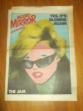 RECORD MIRROR SEPTEMBER 9 1978 BLONDIE THE JAM DEBBIE HARRY BOB GELDOF