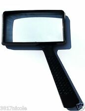 "LARGE 4x RECTANGLE MAGNIFYING GLASS NEW 4"" x 2"" MAGNIFIER (REAL GLASS)"