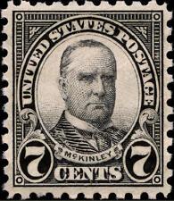 1926 7c William McKinley, Black Scott 588 Mint F/Vf Nh
