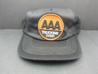 AAA Trucking Corp. Snapback Trucker Hat Cap Cloth & Mesh
