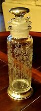 Vintage HEISEY ORCHID Etch Clear Cocktail Shaker Sterling Silver