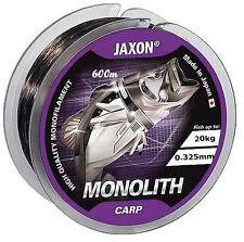 Ligne de Pêche JAXON Monolithe Carpe 300m/600m Bobine Fichier Unique 0 325mm / 20kg 600m