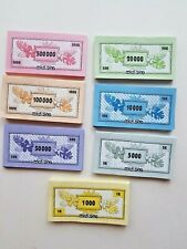 Monopoly Tropical Tycoon Edition Playing Money Replacement Pieces Paper Money