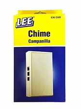 Electric Chime Wired for Door Bell by Lee Easy to install Long Lasting, #636 EMR