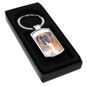 Boxer Dog Animals Metal Keyring 080