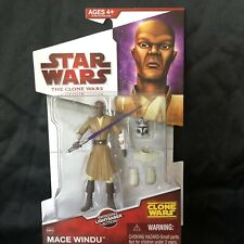 Star Wars The Clone Wars CW06 MACE WINDU NEW 2009 with Light Saber and Armor