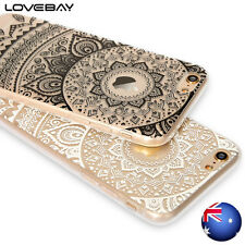 iPhone 7 6s 6 Plus 5s Case Mandala Pattern Clear Rubber Soft TPU Cover For Apple
