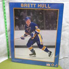 BRETT HULL hockey sniper St. Louis Blues poster 1992 right wing NHL