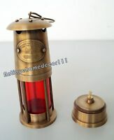 "Antique Brass 7"" Minor Oil Lamp Nautical Maritime Lantern Light Best Gift Item"