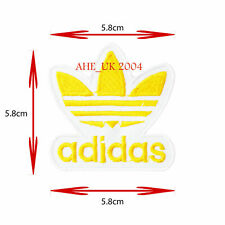 SPORTS LOGO IRON ON/SEW ON EMBROIDERED PATCH BADGE ADIDAS YELLOW