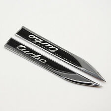 Car Fender Sticker Turbo Logo Dagger Metal Decoration Decal Emblem Badge Motors