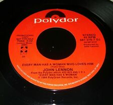 John Lennon Promo Every Man Has a Good Woman Polydor 881378-7 DJ Beatles dude
