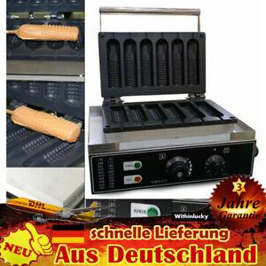 Kommerzielles Waffeleisen Waffelgerät 1500W Hotdog Waffle Maker Machine NEU DHL