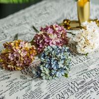 Artificial Hydrangea Silk Flowers Fake Bridal Bouquet Wedding Party Home Decor