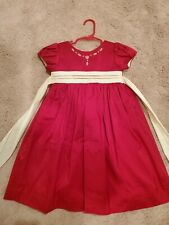 Will'beth Dupioni Silk Girls Christmas Dress Size 4