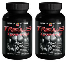 Tribulus Terrestris 1000mg Muscle Gain Supplement Testosterone Booster 2 Bottles