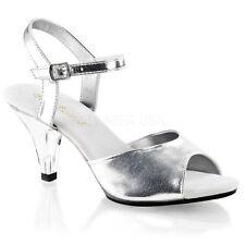 Elegante Damen-Sandalen & -Badeschuhe aus Kunstleder mit normaler Weite (F)