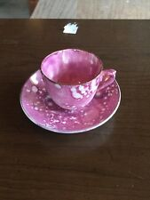 Small Pink and White Tea Cup And Saucer - Damage