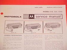 1966 DODGE CHARGER CORONET 500 CONVERTIBLE MOTOROLA AM RADIO SERVICE SHOP MANUAL