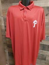 New listing Philadelphia Phillies 3XL XXXL Red White Short Sleeve Golf Polo ⛳Shirt