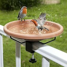 New listing Hanizi 12 Inches Deck Mounted Bird Bath Bowl Spa with Sturdy Steel Clamp Unhe.