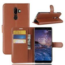 Nokia 7 plus Portable Housse Sac Case Étui de Marron 2011z