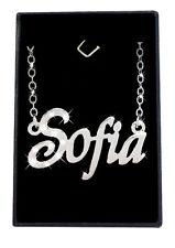 Collier Prénom SOFIA 18K Plaqué or blanc - Arabe Musulman Fait sur mesure Bijoux