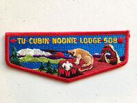TU CUBIN NOONIE OA LODGE 508 SCOUT SERVICE PATCH FLAP PRETTY ARCH RED