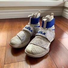 Nike LeBron Soldier 10 Ten X LBJ Men Size 11 US Blue / White Sneakers 844374-164