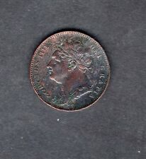 1823 KING GEORGE IV IIII GREAT BRITAIN COPPER FARTHING RARE COIN