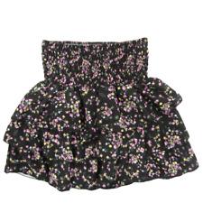 gonna minigonna fiori fiorellini elastico balze fiorata floreale