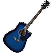 Ibanez PF15ECE-TBS  PF Electro-Acoustic Guitar, Transparent Blue Sunburst